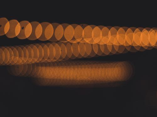 Horizontal abstract photo of blurred lights.