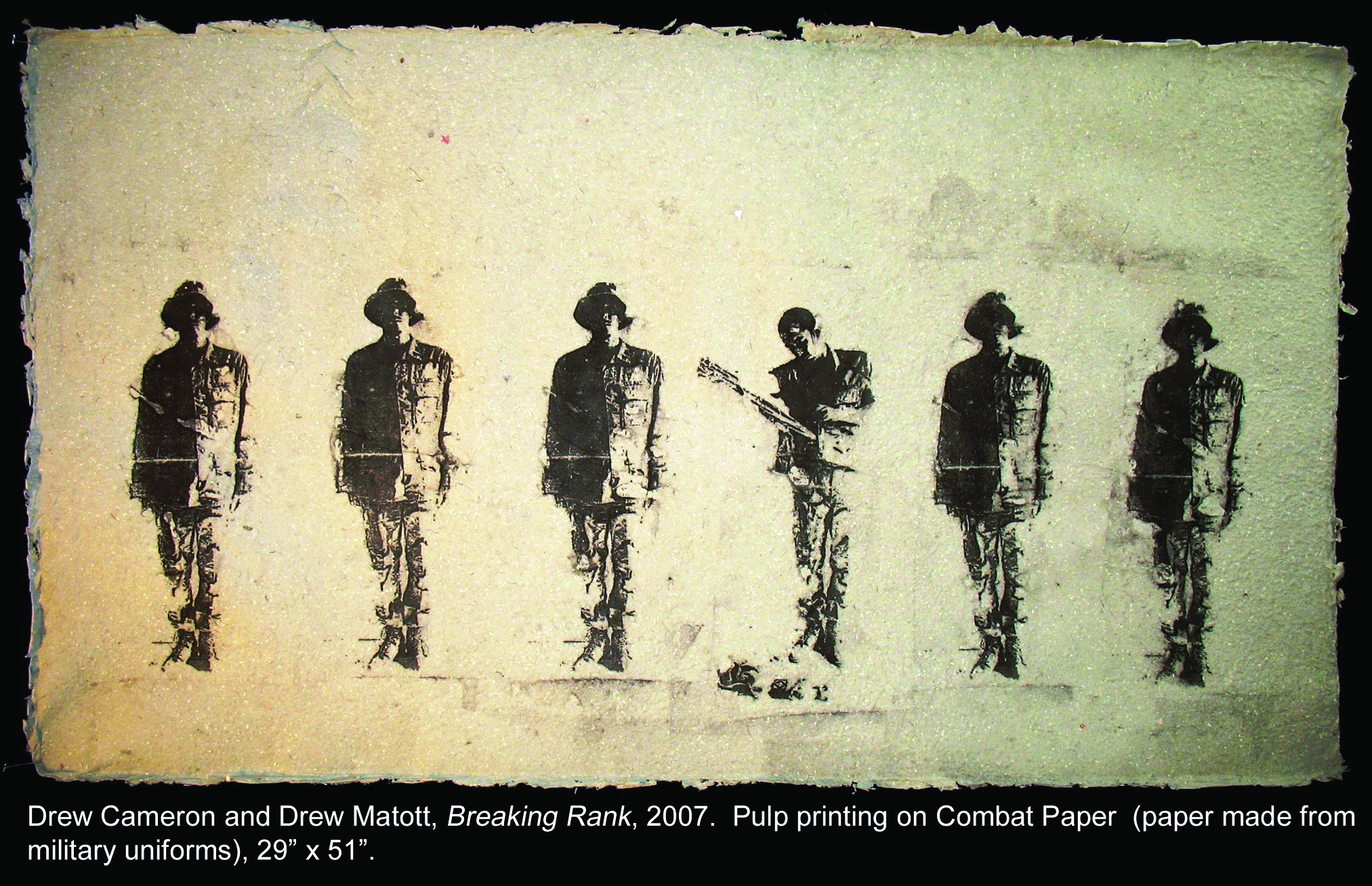 Breaking Rank, six soldiers on paper